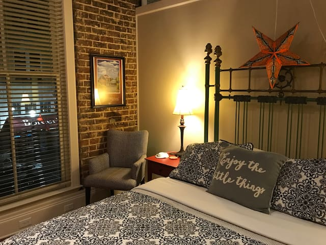 Super comfortable Queen bed and large walk-in closet sets the stage for a great stay.