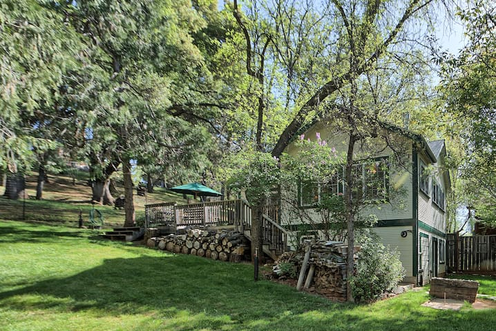Grassy and fully fenced 1/3 acre parcel