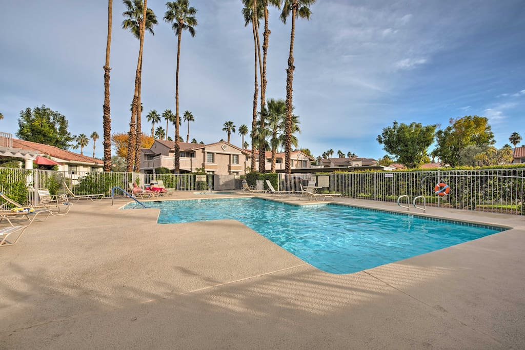 Spend days soaking up the radiant California sun at the shared pool and spa!