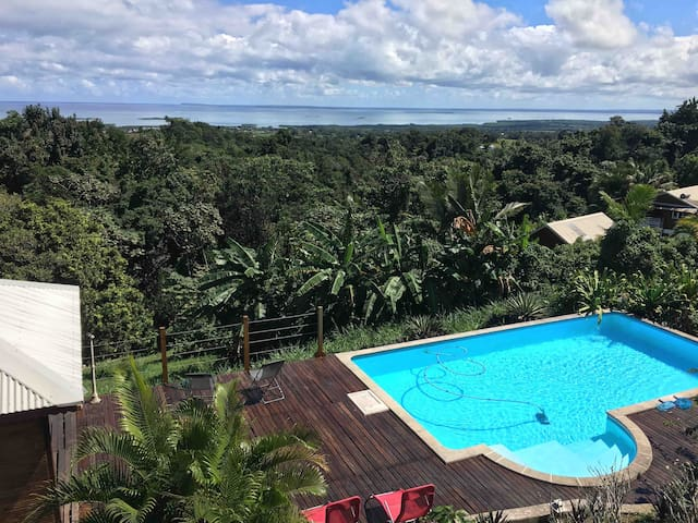 Villa Kalou, maison créole avec piscine & vue mer