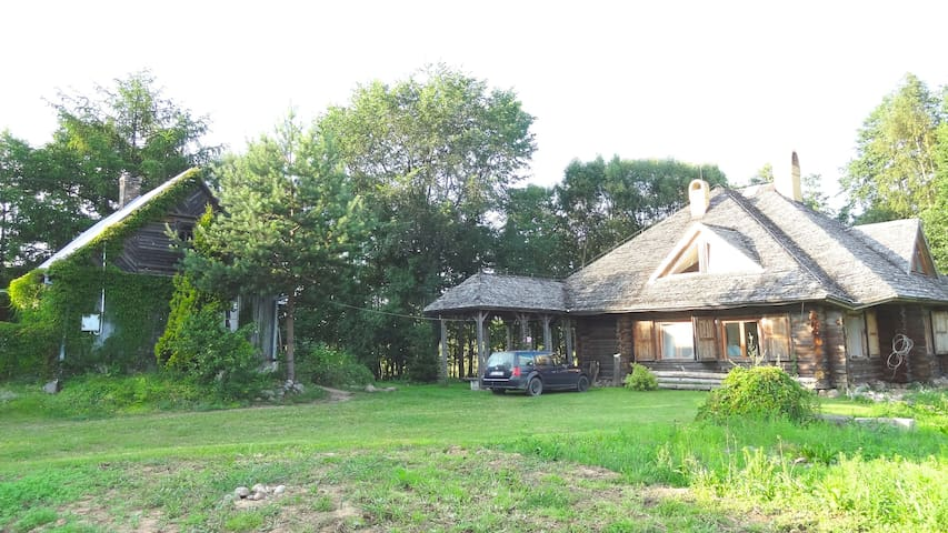 Luxury Log House & Farm Property - Krasnopol - Cabaña