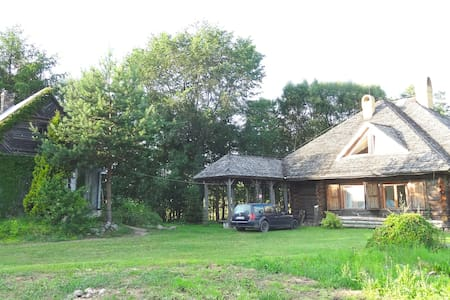 Luxury Log House & Farm Property - Krasnopol - Zomerhuis/Cottage