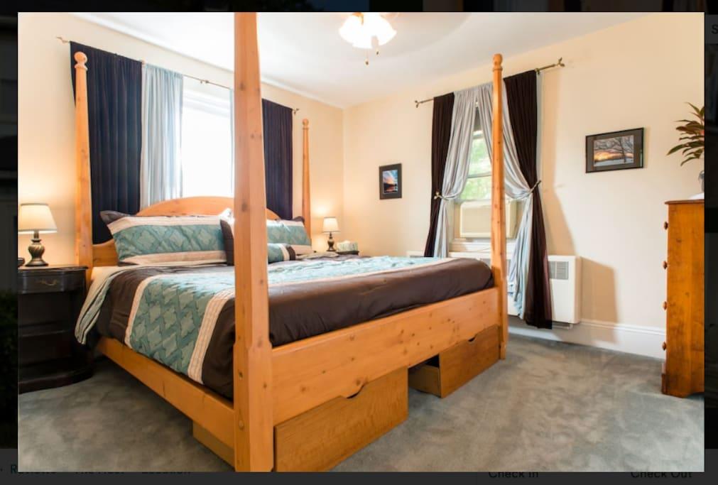 Bedroom 1 - King size Tempurpedic Bed.