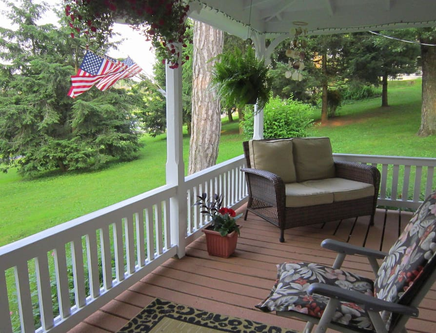 Relax on our comfortably-appointed wrap around porch.