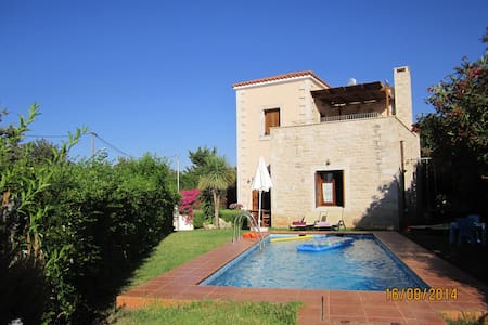 Villa with pool, sea view, near beach and Rethymno - Prines - Σπίτι