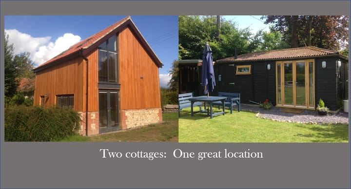 Family getaway : 2 cottages, 1 great location