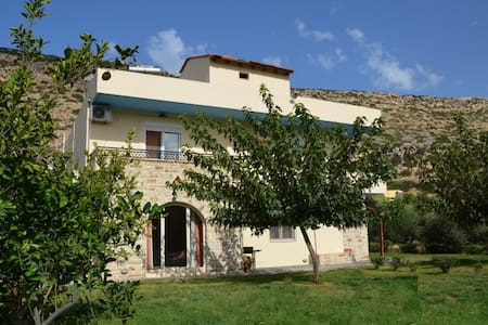 Villa Marina in Matala Crete, swimming pool-garden
