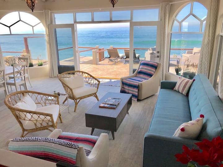 Gorgeous BEACHFRONT Rosarito Home, 3 BR + Den