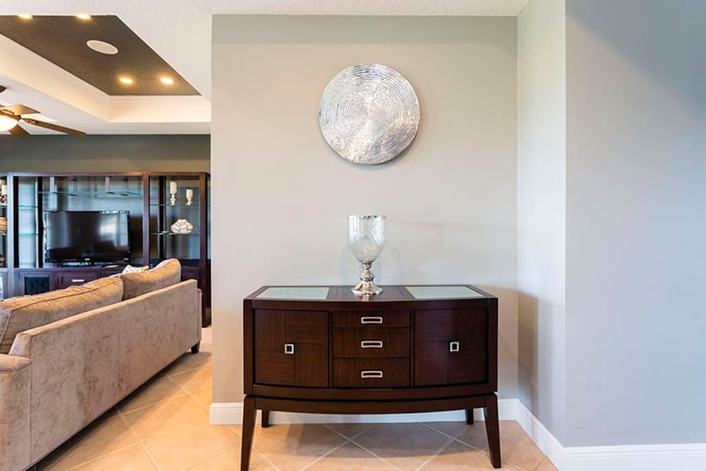 Classical Decor pieces throughout the Home