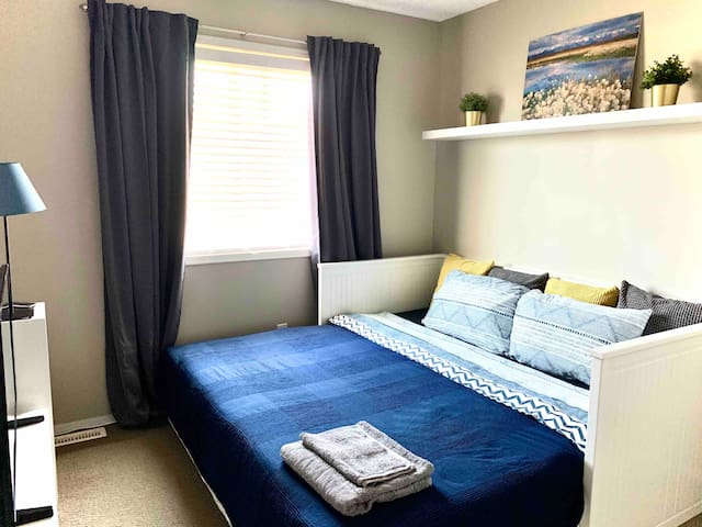 New furnishings in a cozy room close to the city