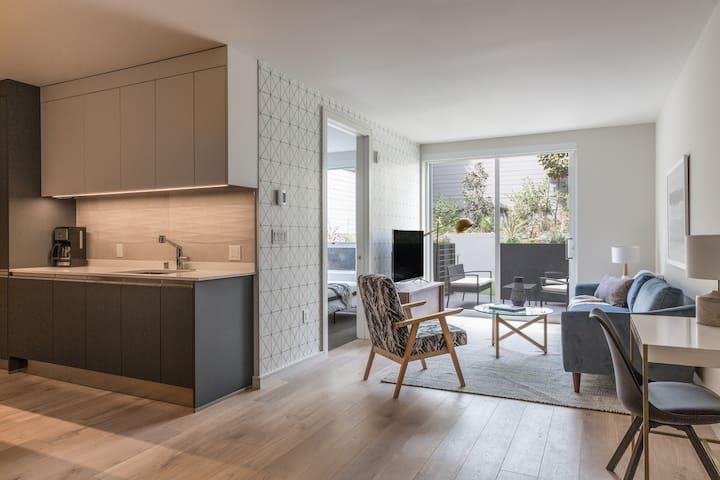 Sonder | Capp Apartments | Calming 1BR + Terrace