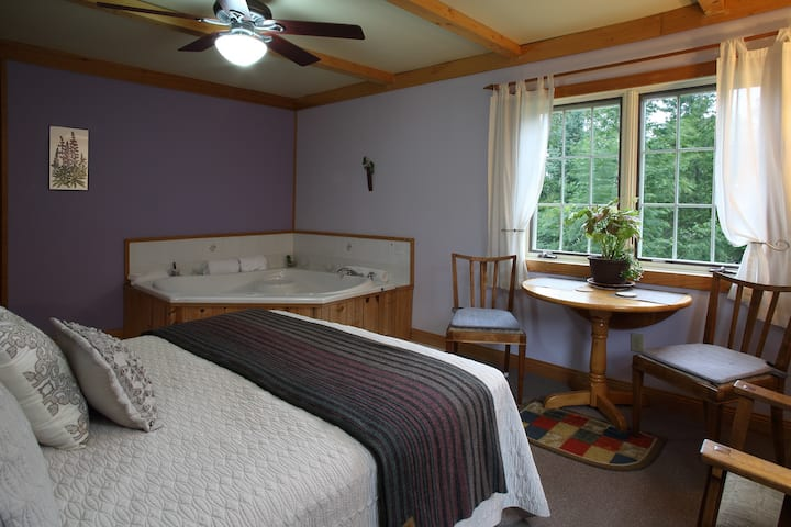 Secluded, quiet, canoe only lake,  whirlpool room