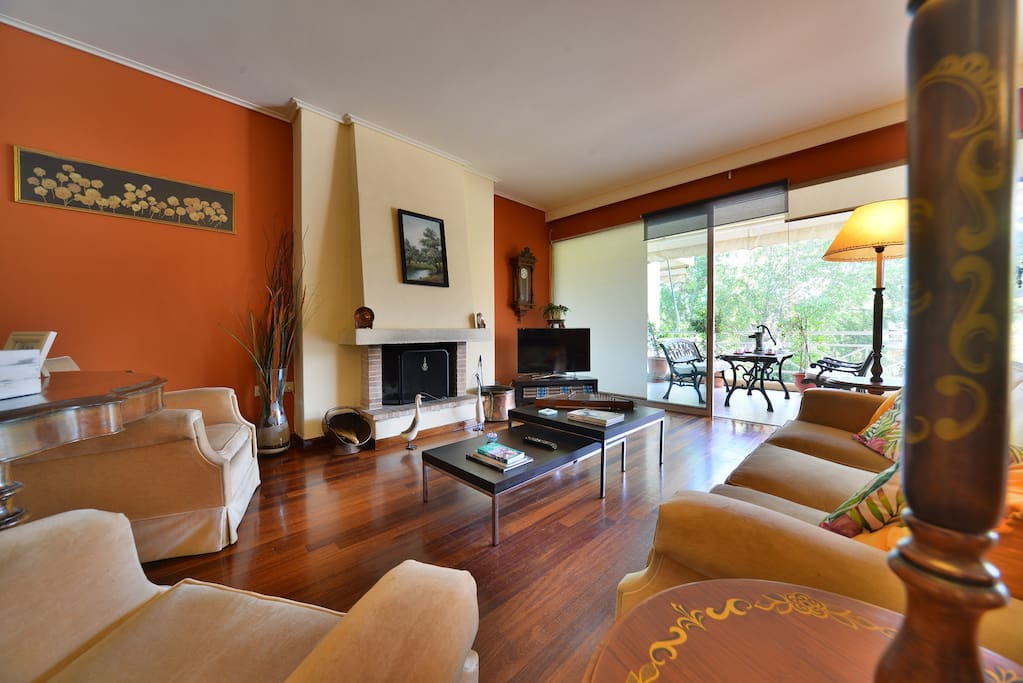 Meet in the ample and elegant living room