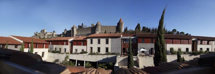 Studio 25m² au pied de la cité de Carcassonne