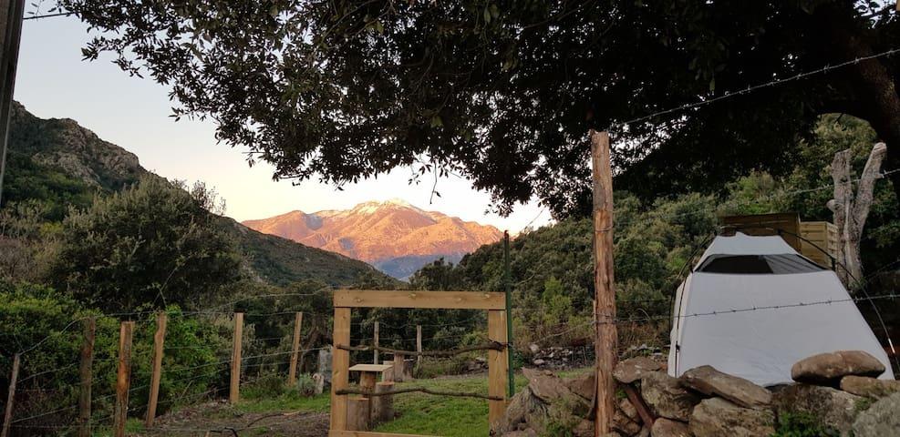 L'agrottu camping écologique au cœur de la corse