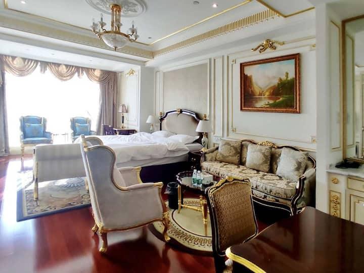 [XZGY]欧式江景城景公寓大床房,欧气豪装,全景落地窗,24H服务