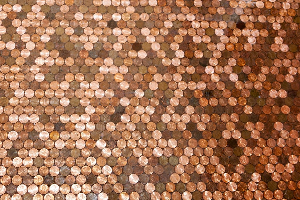 The Lincoln Suite features a penny floor created with more than 45,000 coins!