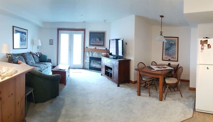 Ski to back door | 1 bdrm | king size | fireplace