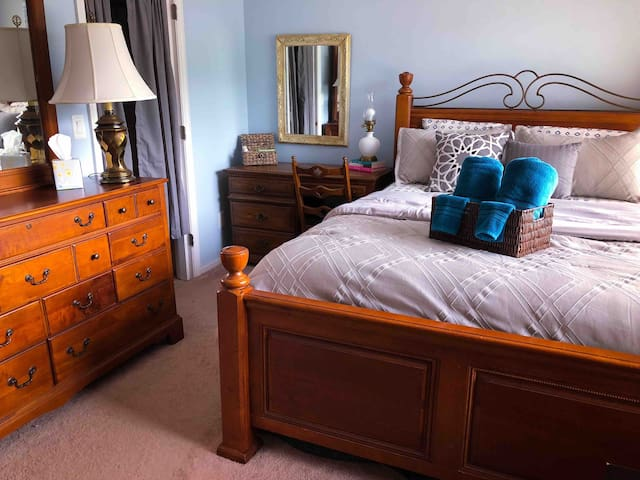 Holy City guest bedroom near downtown & beaches