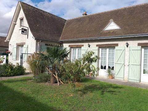 chambre indépendante,sdeb,jardin,châteaux de Loire