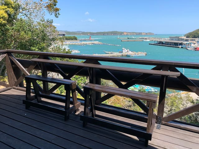 10PPL◇Stunning house with ocean view/free WiFi/BBQ/Surfing/Fishing/Yoga