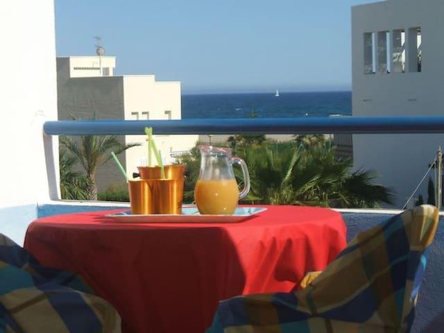 CASA AZAHARA: Chalet Adosado 1º linea de playa - Vera - Rumah bandar
