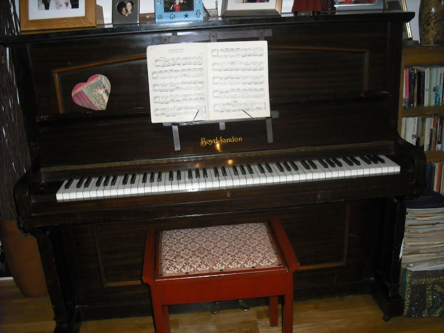 Enjoy playing the piano - lots of music to choose from.