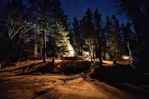 Aglow, perched and tucked amongst the pines