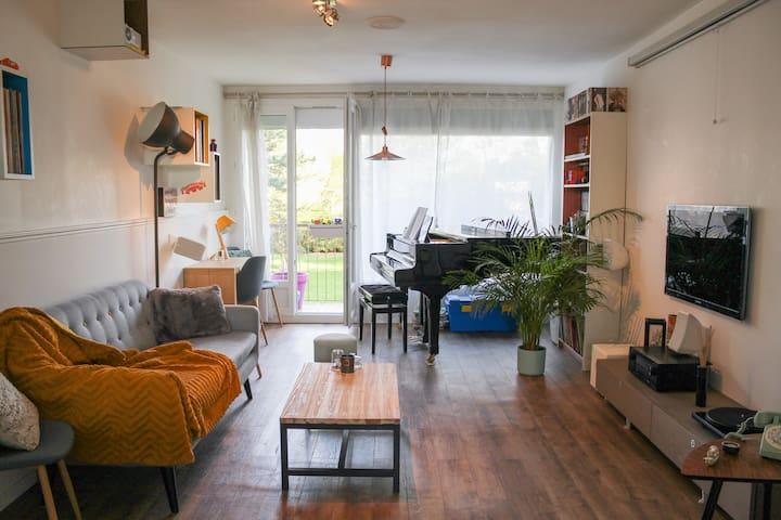 Chambre cosy pour séjour agréable - Le Petit-Quevilly - Appartement