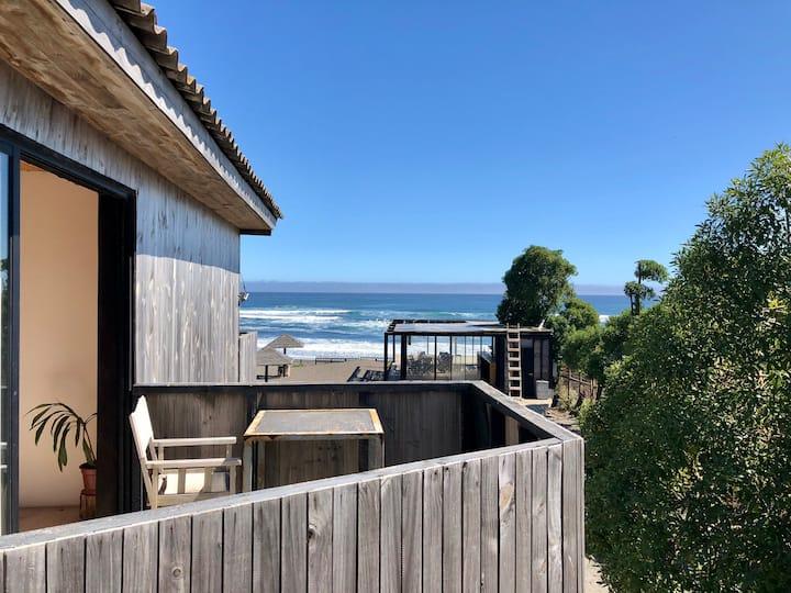 Pieza privada doble a metros de la playa