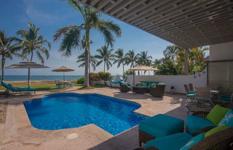 Beachfront Designer Villa with Private Pool