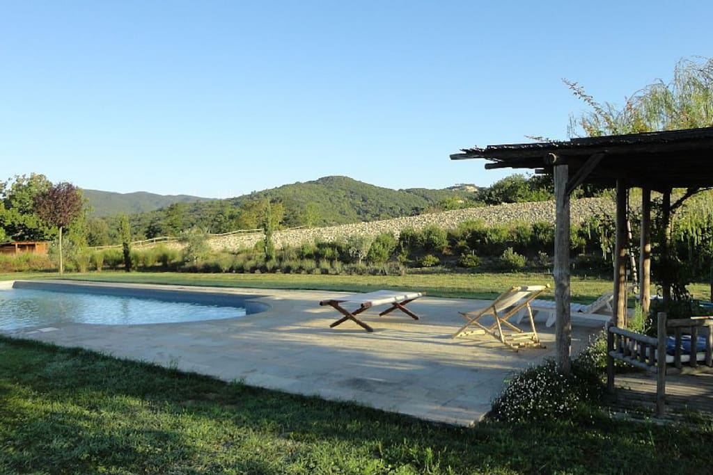 Swimming pool in the middle of the countryside