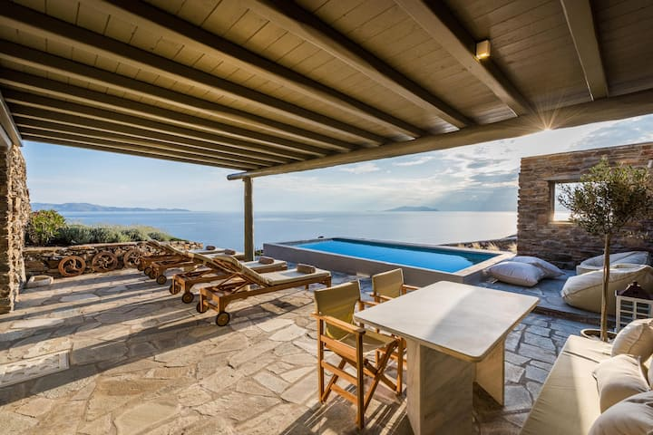 Vathi Bleu | 2 Bedroom Suite with Pool & Sea View