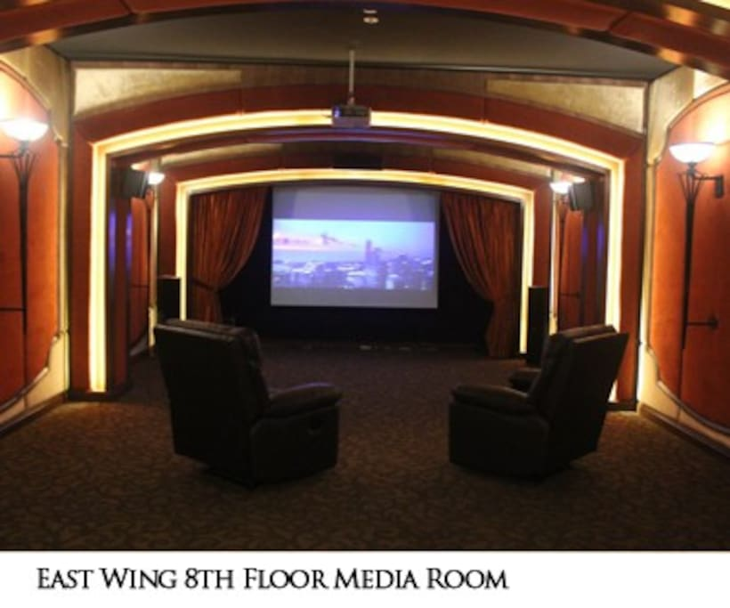 Media Room upon request with fee