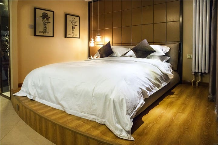 长风画卷夜景大床房【融心智选公寓】 - Taiyuan - Appartement