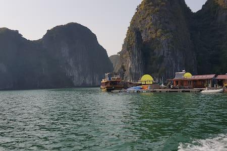 Fisherman floating farm stay