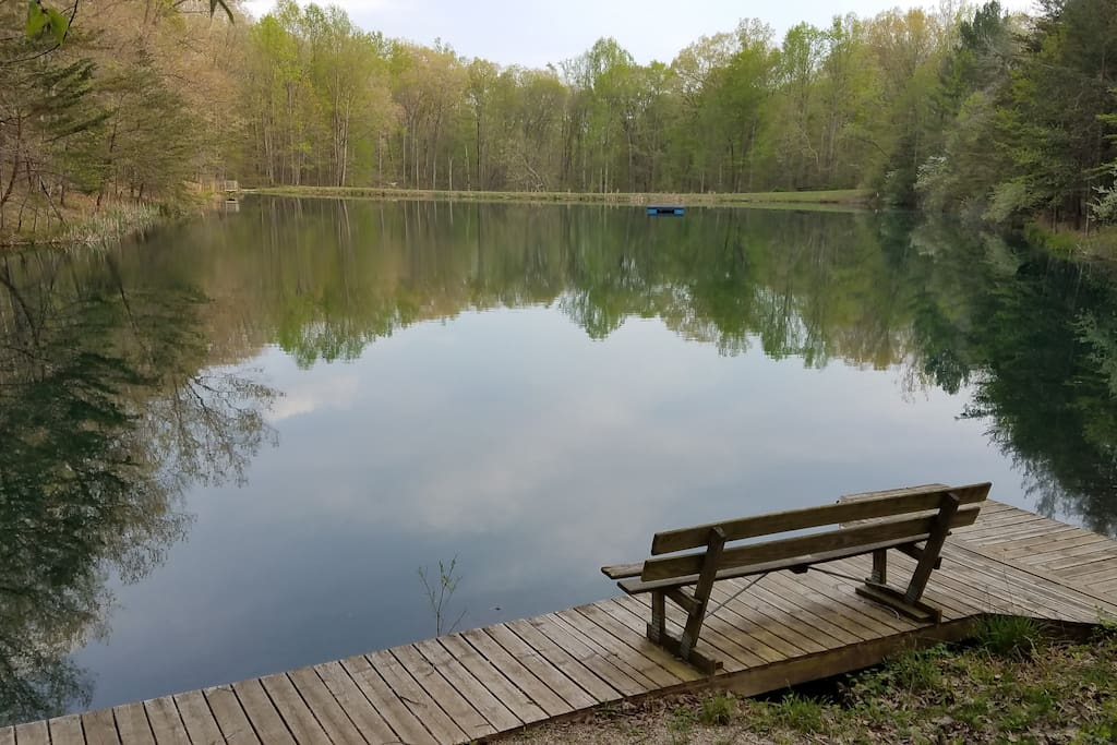 Lake which is available for fishing, canoeing, or pedal boating.