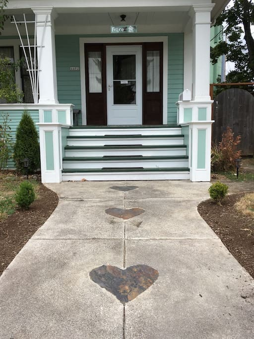 Heart walkway leading to The Frere House