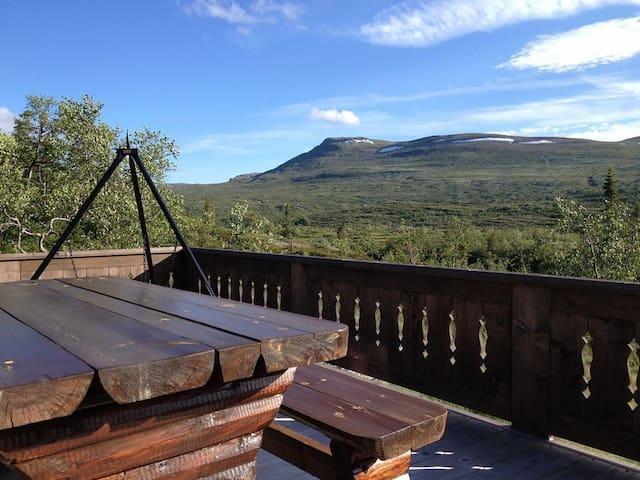 Fantastisk hytte med nydelig utsikt på Høgevarde