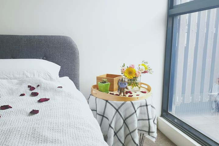 Affordable, cozy private room with own bathroom.
