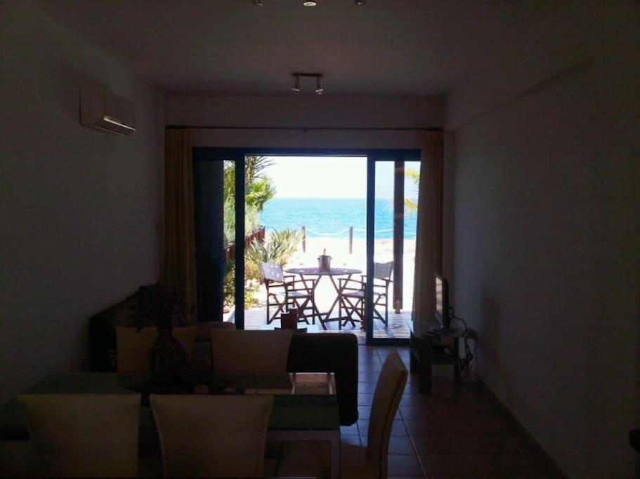 Enjoying the sea view from kitchen, dining room and living room of the property.
