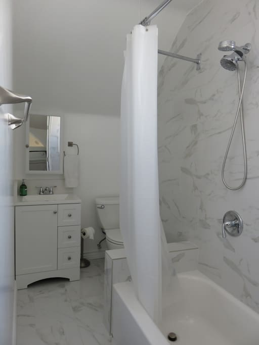 recently remodeled full size bathroom