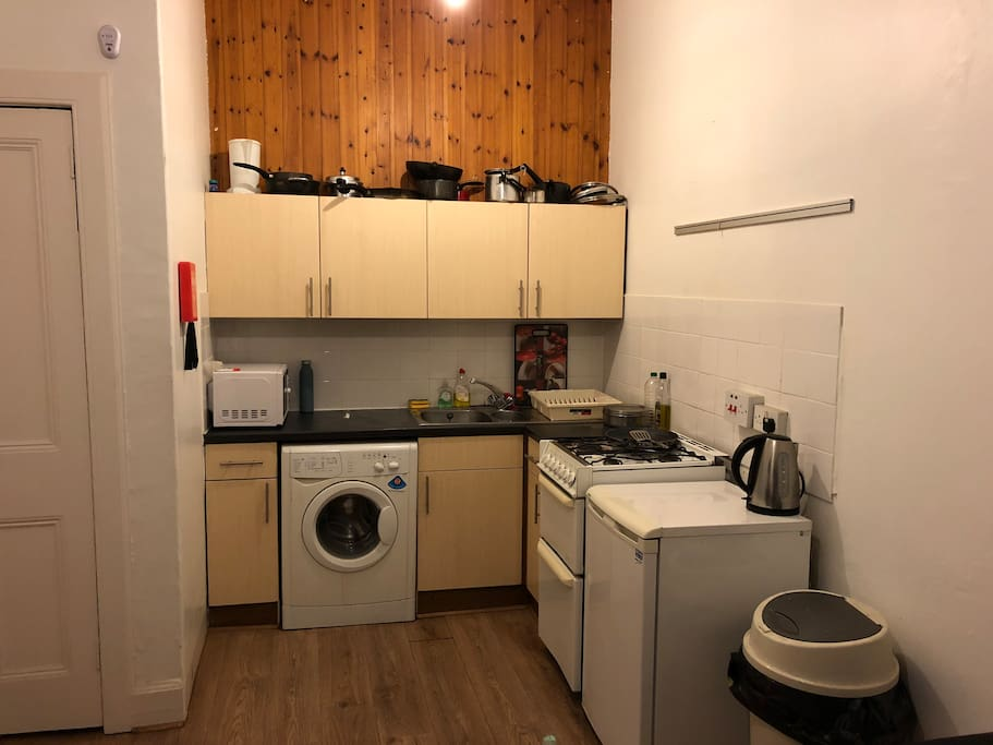 Kitchen. All basic amenities included.