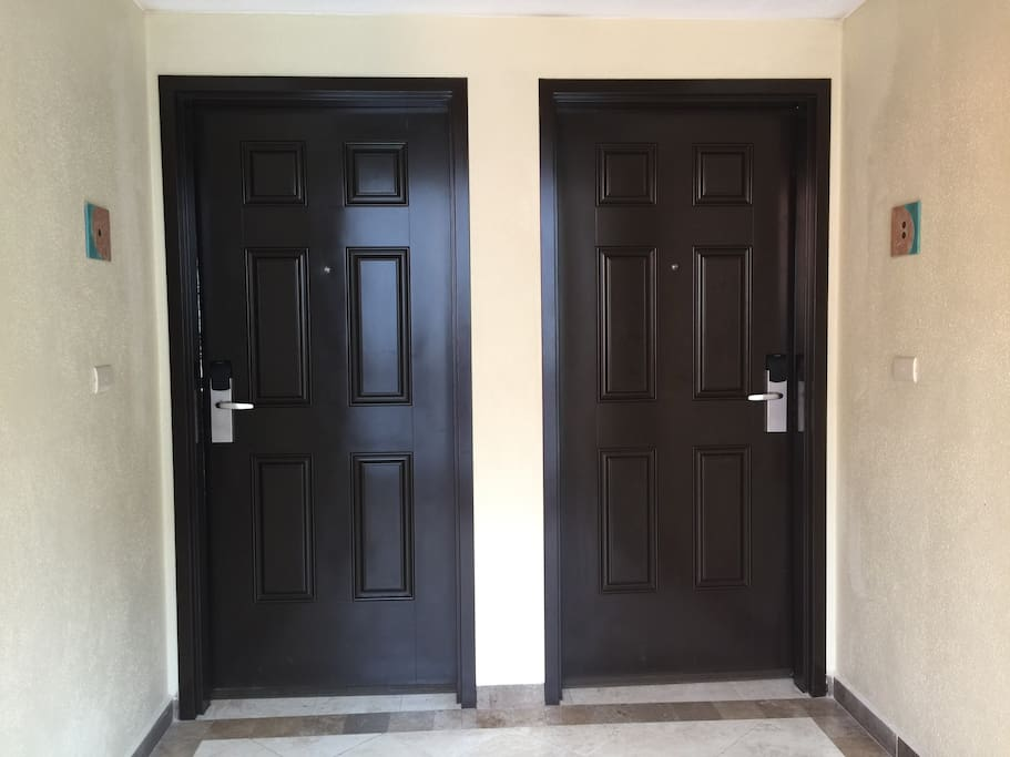 Private doors for us (left) and you (right)