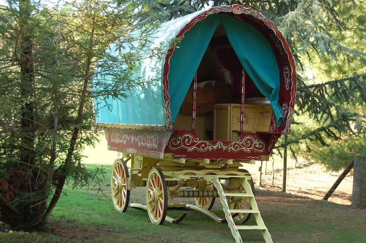 Bow top Open lot Gypsy Wagon - Essex - Cabana