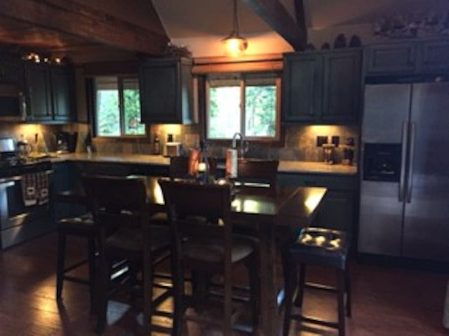 New stainless appliances with granite countertops