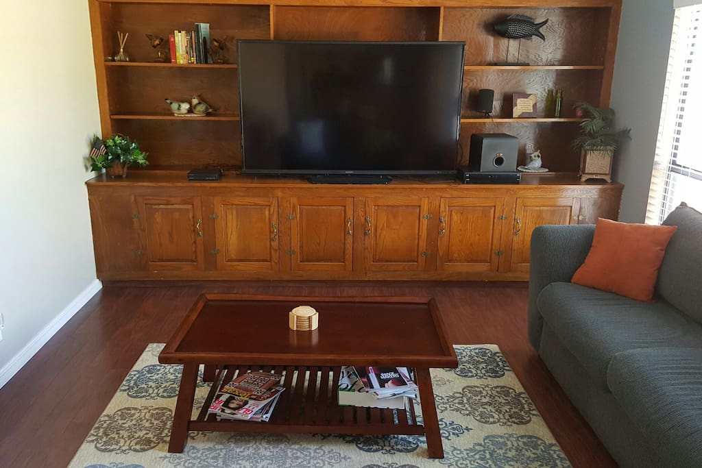 70 inch smart T.V. with satellite.