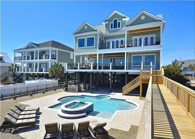 * Oceanfront Home-Pool/SPA&Movie Theater-sleeps 30