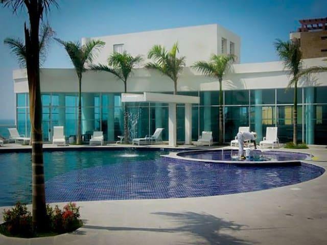 Beautiful Apartment Beach View 2R2B - Cartagena - Apartamento