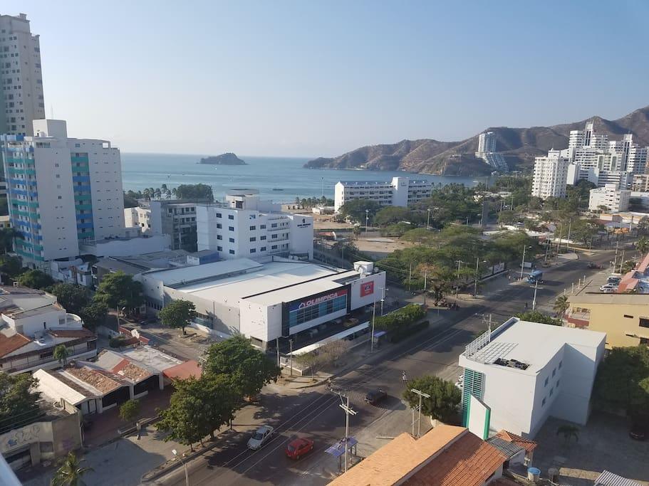Vista desde la terraza del edificio